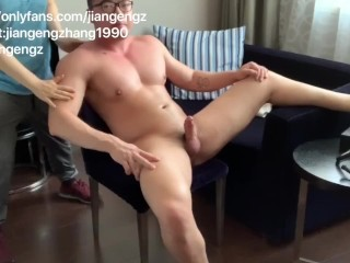Asian Relations Substantiate Bodybuilder Monster Fingered Together With Fucked Hard By Unidentifiable Man